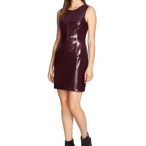 1 State Sleeveless Faux Patent Leather Dress 6